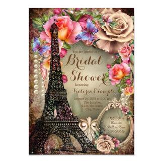 Ducha nupcial de París de la torre Eiffel del Invitación 12,7 X 17,8 Cm