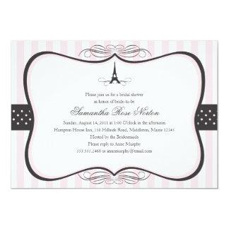 Ducha nupcial de París de la torre Eiffel Invitación 12,7 X 17,8 Cm