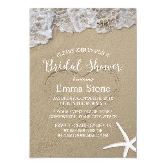 Ducha nupcial del boda de playa del verano de las invitación 12,7 x 17,8 cm