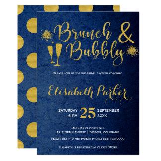 Ducha nupcial del brunch y del oro atractivo invitación 12,7 x 17,8 cm