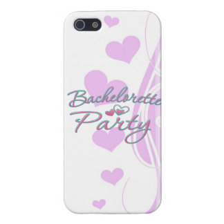 ducha nupcial del corazón del fiesta rosado del ba iPhone 5 protectores