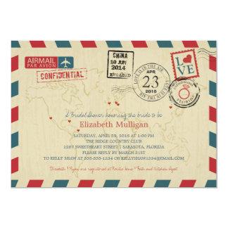 Ducha nupcial del correo aéreo el | la FLORIDA del Invitación 12,7 X 17,8 Cm