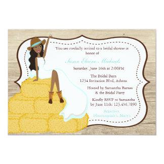 Ducha nupcial del trullo de la vaquera de la novia invitación 12,7 x 17,8 cm