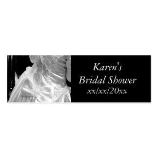 Ducha nupcial del vestido de boda tarjeta de visita