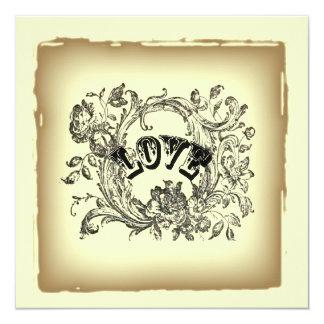 Ducha nupcial del victorian de los remolinos del invitación 13,3 cm x 13,3cm