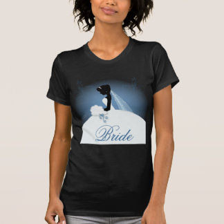 ducha nupcial del vintage de la silueta romántica camiseta