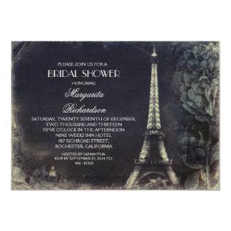 Ducha nupcial del vintage de la torre Eiffel de Invitación 12,7 X 17,8 Cm