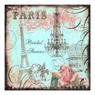 Ducha nupcial elegante de la torre Eiffel y de la Invitación 13,3 Cm X 13,3cm