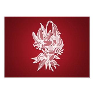 Ducha nupcial elegante del ramo rojo del lirio