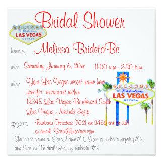 Ducha nupcial en Las Vegas Invitacion Personal