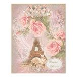 Ducha nupcial floral del rosa elegante lamentable  comunicado personalizado