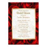 Ducha nupcial floral del rosa rojo invitación 12,7 x 17,8 cm