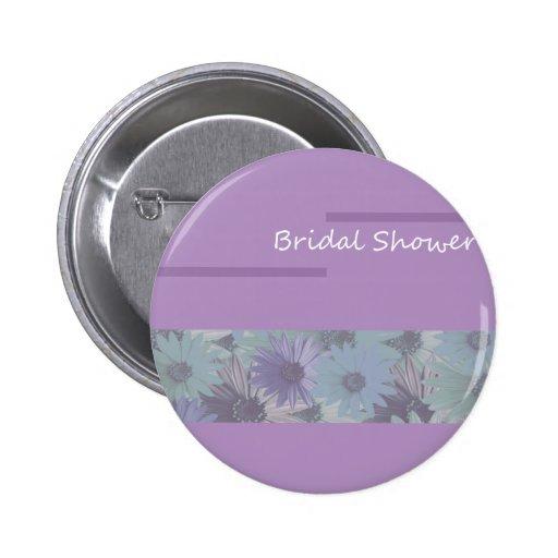 ¡ducha nupcial! floral púrpura pins