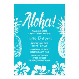 Ducha nupcial hawaiana de la hawaiana del hibisco invitación 12,7 x 17,8 cm