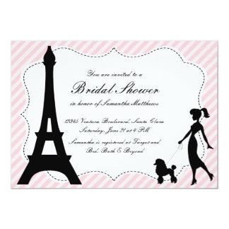 Ducha nupcial Invitatio de la torre Eiffel y del Invitación 12,7 X 17,8 Cm