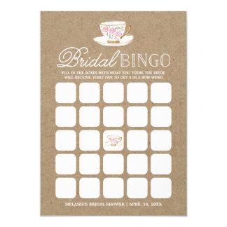 Ducha nupcial moderna rústica del bingo el | de la invitación 12,7 x 17,8 cm