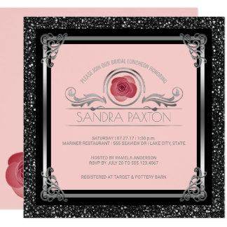 Ducha nupcial nupcial de la bodas de plata del invitación 13,3 cm x 13,3cm