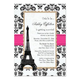Ducha nupcial parisiense de la torre Eiffel de las Invitación 12,7 X 17,8 Cm