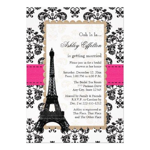 Ducha nupcial parisiense de la torre Eiffel de las Anuncio Personalizado