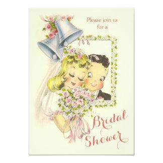 Ducha nupcial retra caprichosa de novia y del invitación 12,7 x 17,8 cm