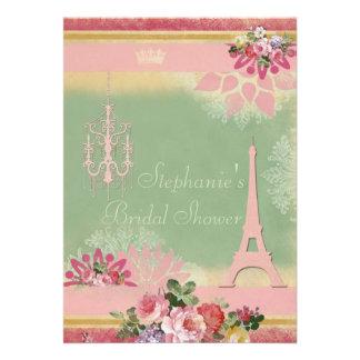 Ducha nupcial rosada de la torre Eiffel y de la lá