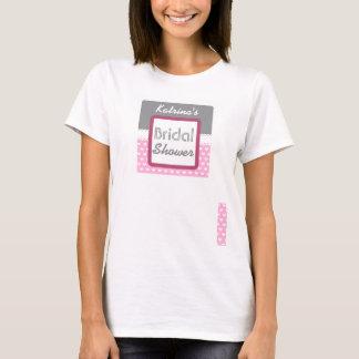 Ducha nupcial temática A36 del corazón rosado Camiseta