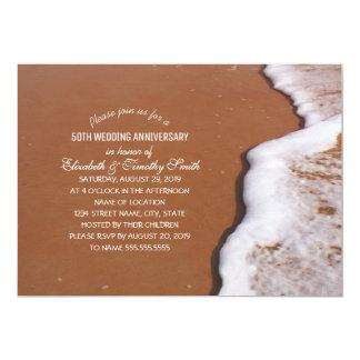 Ducha nupcial temática de la arena del océano y de invitación 12,7 x 17,8 cm