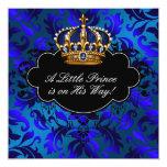 Ducha real del príncipe bebé del negro de azules anuncio