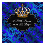 Ducha real del príncipe bebé del negro de azules m anuncio