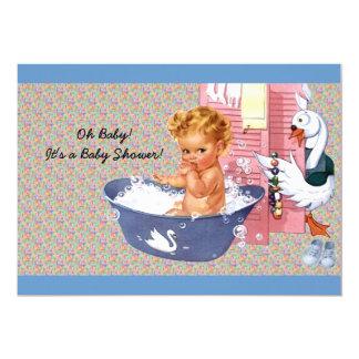Ducha retra del bebé de los años 40 invitación 12,7 x 17,8 cm