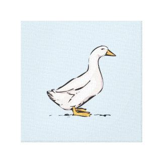 """Duck el arte 12"""" de la lona de los azules cielos"""