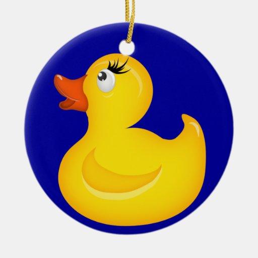 Duckies de goma amarillo ornamento para reyes magos