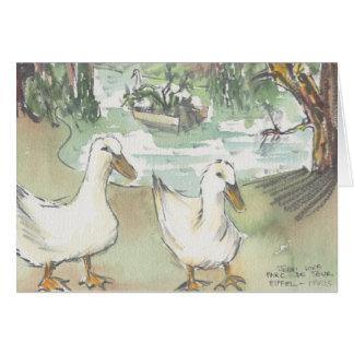 """""""Ducks tarjeta de felicitación del bosquejo/de"""