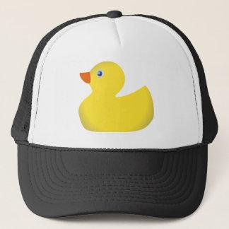 Ducky de goma amarillo gorra de camionero