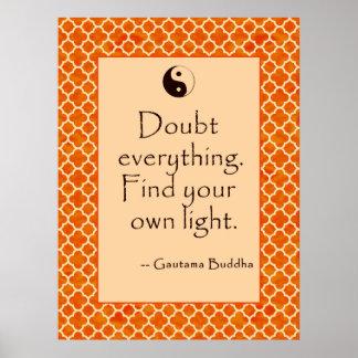Duda de la cita de Buda todo….  Posters