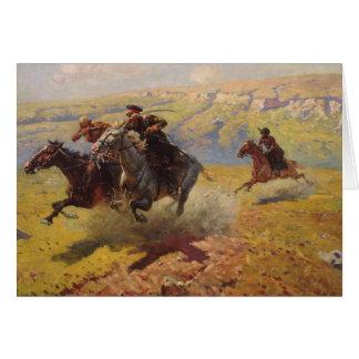 Duel, 1905 tarjeta de felicitación
