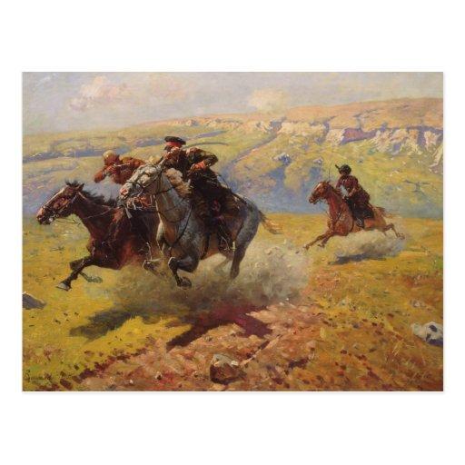 Duel, 1905 postales