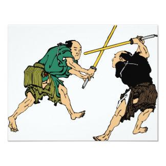 Duelers de Hokusai en color Invitación 10,8 X 13,9 Cm