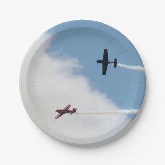 Duelo del aeroplano del ala fija de Airshow Plato De Papel