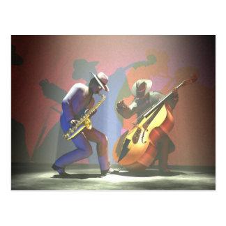 Duelo del jazz tarjetas postales