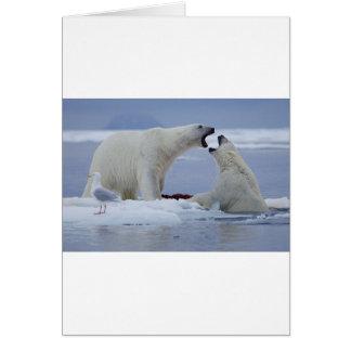 Duelo del oso polar felicitacion