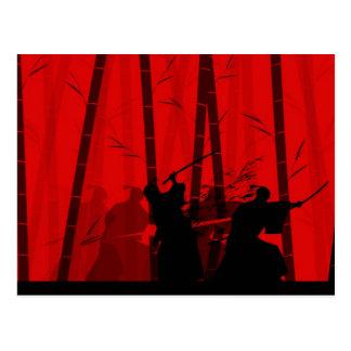 Duelo en el bambú rojo - samurai postal