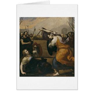 Duelo entre dos mujeres de Jusepe De Ribera Tarjetón