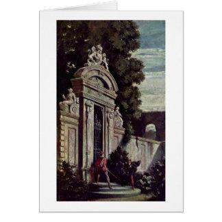 Duelo nocturno en la puerta de jardín por Moritz V Felicitaciones