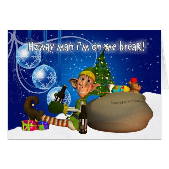 Duende de la tarjeta de Navidad de Geordie que