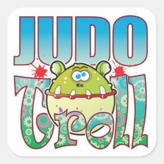 Duende del judo pegatina cuadrada