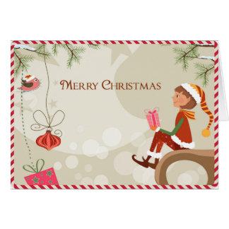 Duende del profesor - tarjetas de Navidad