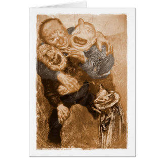 Duendes de abuelo de risa tarjeta de felicitación