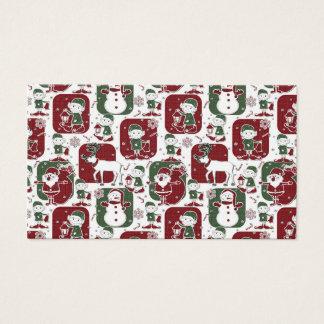Duendes y muñecos de nieve del navidad tarjeta de negocios