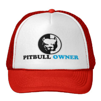 dueño del pitbull gorras de camionero